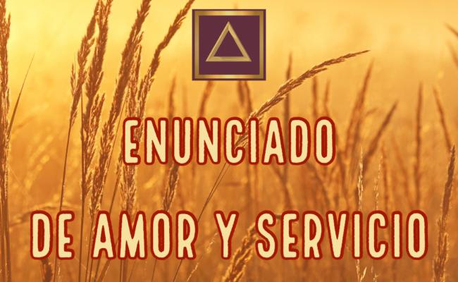 Enunciado De Amor Y Servicio
